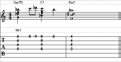 Easy Jazz Guitar Lick — II V I