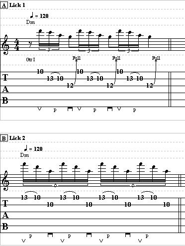 Jimmy page guitar licks