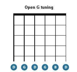 how to tune your guitar - open G tuning