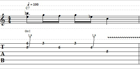 2 Note Bending Guitar Lick