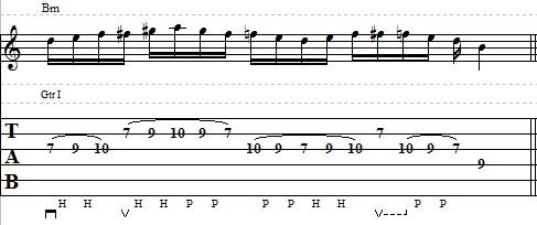 Blues Guitar Lick with Legato Technique