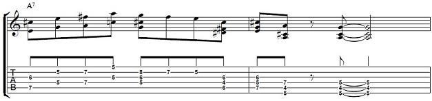 Dominant-Guitar-Lick-in-A-Blues--Guitar-Lesson