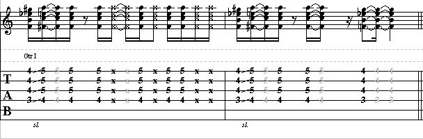 Funky Rhythm Pattern with James Brown Chord