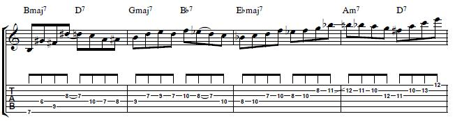 Jazz-Guitar-Lesson-Jazz-Line-over-Giant-Step