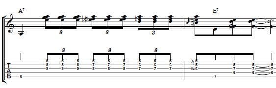 Blues-Guitar-Lesson-Cool-Blues-Turnaround-with-Triads-in-the-key-of-A