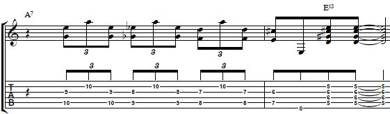 Blues-Guitar-Lesson-Turnaround-Lick-with-Chord-Voicings-in-the-key-of-A-Blues