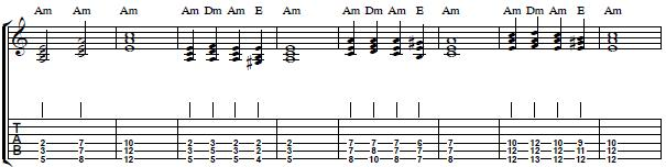 How to Play Triads in A Minor - Easy Harmony Guitar Lesson - Part II