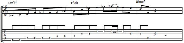 Jazz Line Over a II V I Chord Progression - Easy Jazz Guitar Lesson