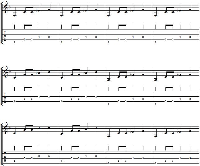 blues-riff-in-the-key-of-F-Ray-Charles-Style-Rhythm-Blues-Guitar-Lesson