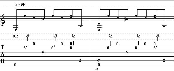 Easy Acoustic Country Blues Lick in E