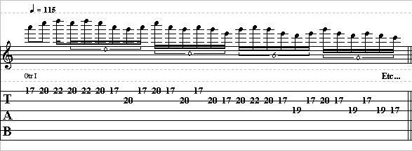 Quick Minor Pentatonic Lick in A – Lead Guitar Lesson