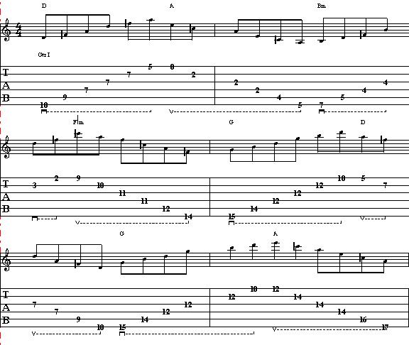 How to Play Minor & Major Triads Over Pachelbel´s Canon in D - Lead Guitar Lesson