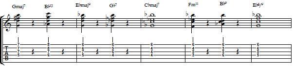 Second 4 Bars From John Coltrane´s Giant Steps - Jazz Guitar Lesson