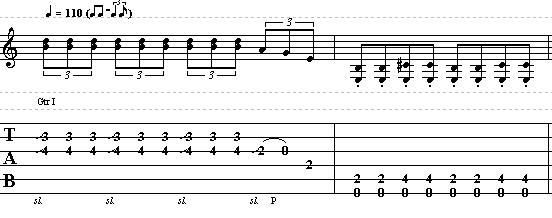 Simple Acoustic Blues Guitar Riff in E