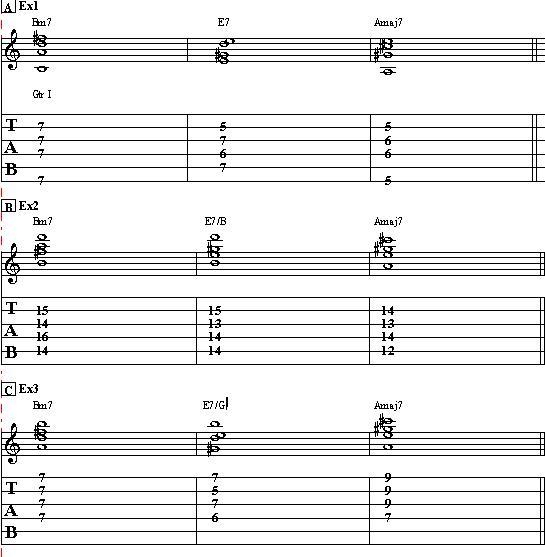 Basic Jazz Guitar Lesson on Chords Part II
