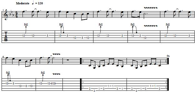 How to Play the Intro and Riff From You Give Love a Bad Name by Bon Jovi
