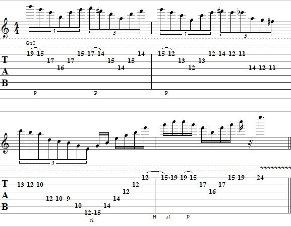 Combining Sweep Picking and String Skipping Lick - Lead Guitar Lesson