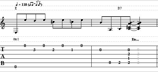 Basic Turnaround Over a Shuffle Blues in E