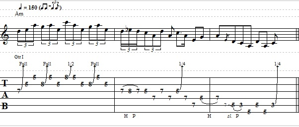 Blues Lick in the Key of A Minor