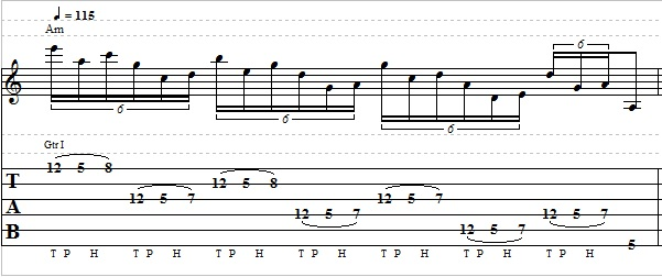 Tapping Lick with Minor Pentatonic Scale - Lead Guitar Lesson on Tapping Licks