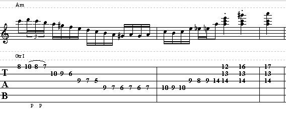 Gypsy Jazz Lick in the key of A Minor - Jazz Guitar Lesson on Licks