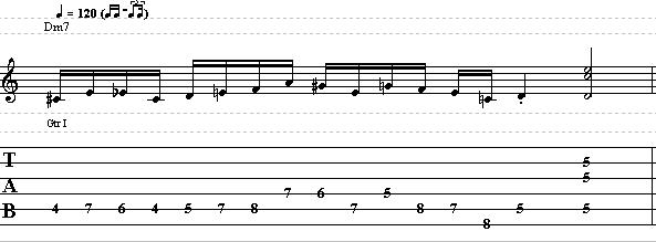 Jazz Approach Note Patterns with D Minor Arpeggio
